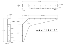12x18 2D standard bracket drawing