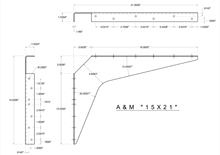 15x21 2D standard bracket drawing