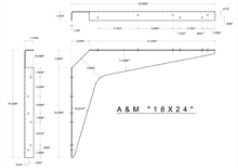 18x24 2D standard bracket drawing