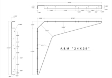 24x29 2D standard bracket drawing