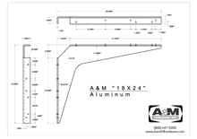 aluminum 18x24 2D standard bracket drawing