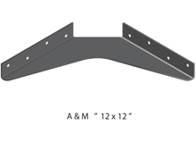 12x12 3D standard bracket drawing