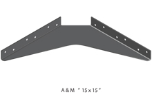 15x15 3D standard bracket drawing