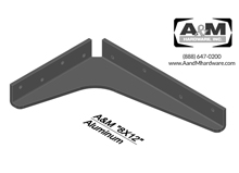 8x12 3D aluminum standard bracket drawing
