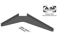 15x21 3D aluminum standard bracket drawing