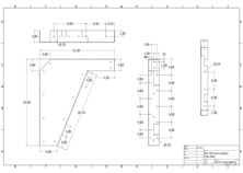 21 inch ADA vanity bracket drawing