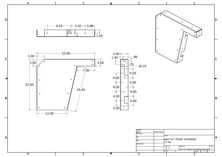 23 inch ADA vanity bracket drawing