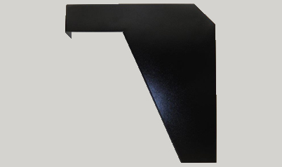 Black ADA support bracket