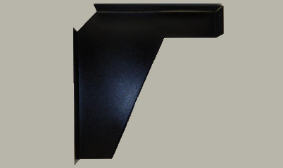Black ADA vanity bracket