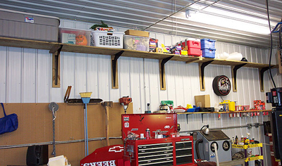 standard brackets used for garage storage