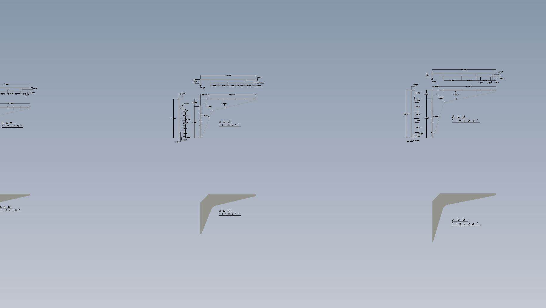 Standard Bracket CAD Drawings | A&M Hardware