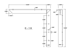 c-18 2D concealed bracket drawing