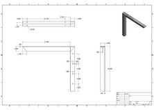 c-21 2D concealed bracket drawing