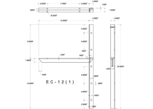 ec(1.0)-12 2D concealed bracket drawing