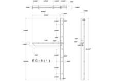 ec(1.0)-9 2D concealed bracket drawing