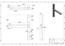 ec-15 2D extended concealed bracket drawing