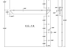 ec-18 2D extended concealed bracket drawing