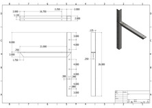 ec-21 2D extended concealed bracket drawing