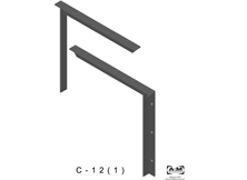 c(1.0)-12 3D concealed bracket drawing