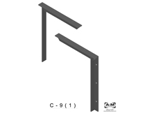c(1.0)-9 3D concealed bracket drawing