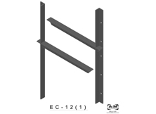 ec(1.0)-12 3D extended concealed bracket drawing