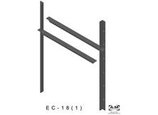 ec(1.0)-18 3D extended concealed bracket drawing