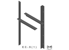 ec(1.0)-9 3D extended concealed bracket drawing