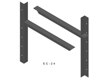ec-24 3D extended concealed bracket drawing