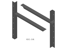 ec-30 3D extended concealed bracket drawing