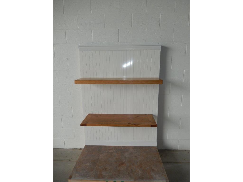 Shelves supported by concealed flat brackets