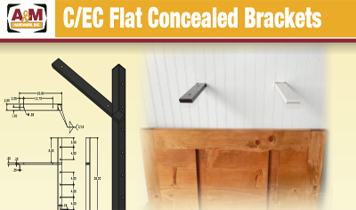 C/EC flat concealed bracket price list