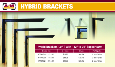 hybrid bracket pricing sheet