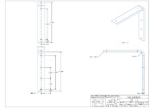 SF12-2D surface mounted flat bracket drawing