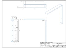 SF15-2D surface mounted flat bracket drawing