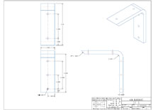 SF6-2D surface mounted flat bracket drawing