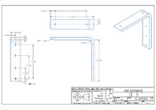 SF9-2D surface mounted flat bracket drawing