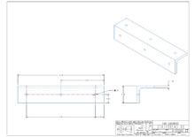ST10-2D surface mounted flat bracket drawing